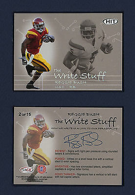 2006 SAGE HIT WRITE STUFF: COMPLETE INSERT SET OF 15 ROOKIE CARDS