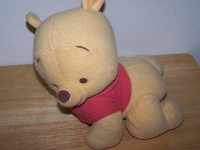 "Fisher Price Disney 9"" Plush Talking MAGIC TOUCH N CRAWL WINNIE THE POOH Bear"