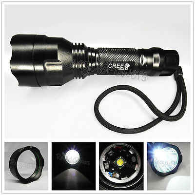 CREE XM-L T6 LED Light Flashlight Torch 1300 LM 5 switch Mode bicycle SOS TC8