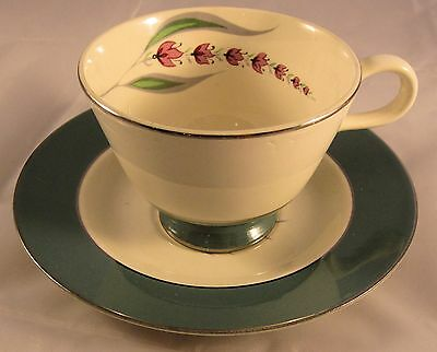 LUPINE by HOMER LAUGHLIN Cavalier Eggshell Cup & Saucer