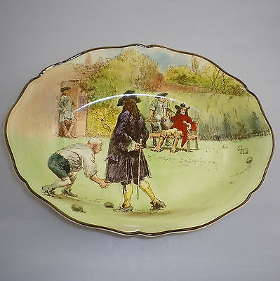 "Royal Doulton Series Ware "" SIR ROGER DE COVERLEY   "" Oval Bowl."