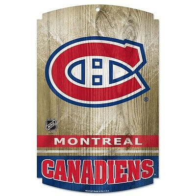 Montreal Canadiens Nhl Wood Sign Officially Licensed