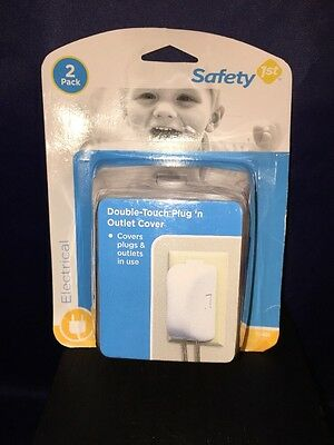 Safety 1st Double-Touch Plug & Outlet Cover 2 Pack, Baby Safety New