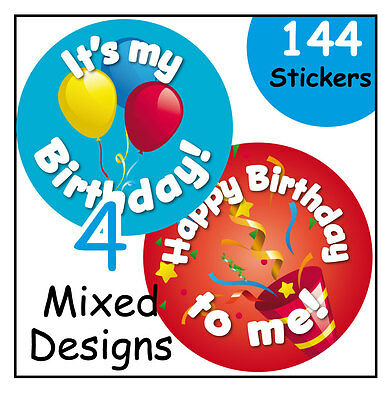 Happy Birthday stickers, nursery, school or home, learning incentive