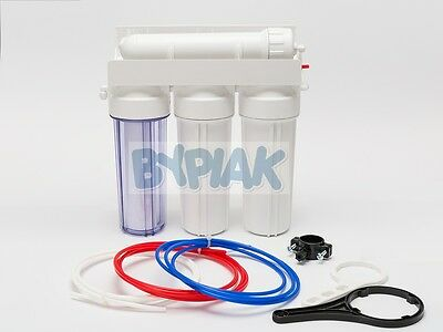 New 4 Stage RO Reverse Osmosis Water Filter 75GPD Aquarium Tropical Marine