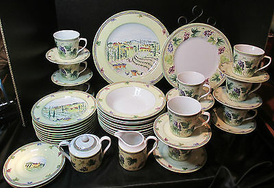 "PTS International Interiors Genuine Stoneware ""Tuscan Country"" Set of 45 Pieces"