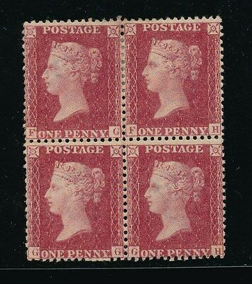 GB QV PENNY REDS LCp14 MINT BLOCK of 4...FG to GH