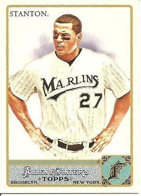 MIKE STANTON 2011 TOPPS ALLEN AND GINTER SP - #325 - SHORT PRINT