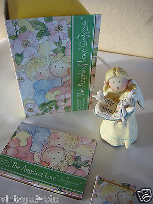 "GNOMY'S DIARIES Angels of Love by ANNEKABOUKE ""Sing A Love Song"" Figurine!"