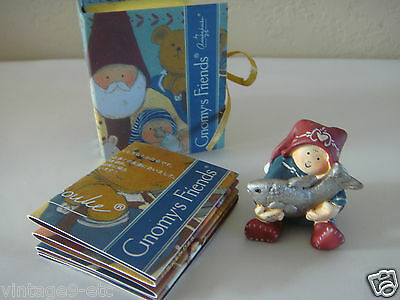 New GNOMY'S FRIENDS BY ANNEKABOUKE Fortune Fairy with Fish Figurine!