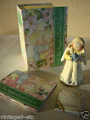 "New GNOMY'S DIARIES Angels of Love by ANNEKABOUKE ""Forget Me Not"" Figurine"