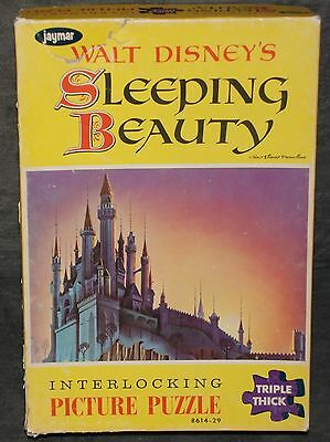 Walt Disney's Sleeping Beauty Castle Jaymar Puzzle w/ 100+ Triple Thick Pieces