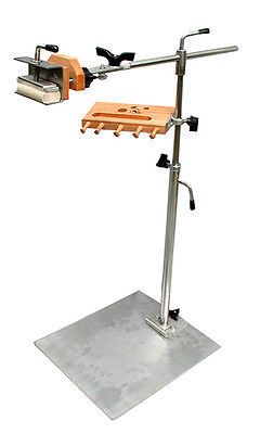 STAINLESS STEEL NEEDLEWORK FLOOR STAND and LAP FRAME COMBO