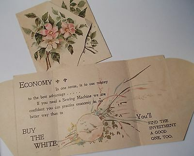 Pair of  White Sewing Machines Trade Cards- Victorian Trade Cards -Pennsylvania