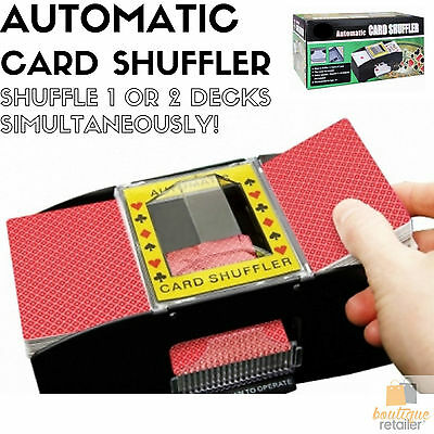 AUTOMATIC CARD SHUFFLER Playing Cards Game Sorter Poker Casino 2 Decks Machine