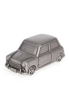 Mini Cooper  Pewter Plated Money Box - Moving Wheels!