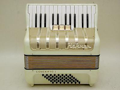 Very NIce German Piano Accordion Hohner Concerto I 48 Bass With Case .