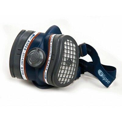 Twin Half Mask Respirator with A1P3 Dust Filter Cartridges Elipse Breathing Air