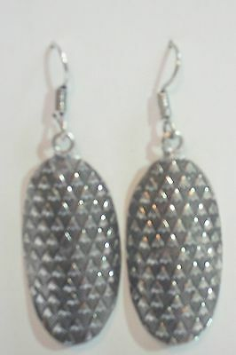Native Silver Hammered & Stamped Arrow Heads Dangle Earrings-PRICE REDUCED!