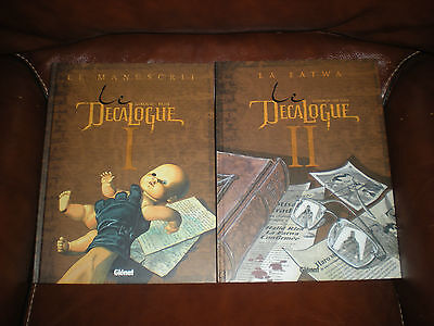 Le Decalogue - Lot Des 2 Premiers Tomes En Reeditions Glenat Grands Formats
