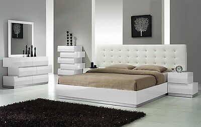 Spain Modern 4 Pcs Bedroom Set Queen Cal King Est King Bed ...