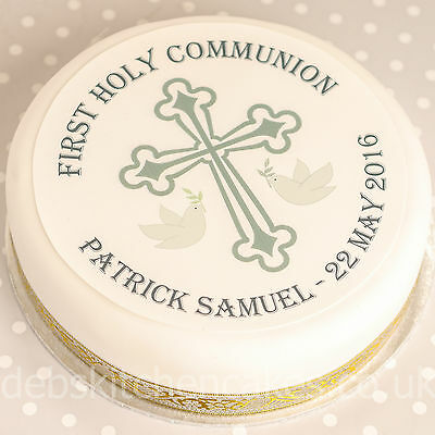 First Holy Communion Cake Topper - Personalised Holy Communion Cake Decoration