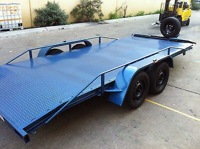 Brand New Car Carrier Trailer Tandem Axle 16-Ft Beaver Use4 Race Ford Holden