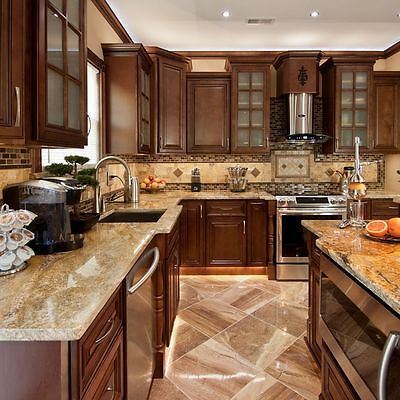 """90"""" Kitchen Cabinets All Wood Wall and Base Kitchen Geneva Group Sale KCGN21"""