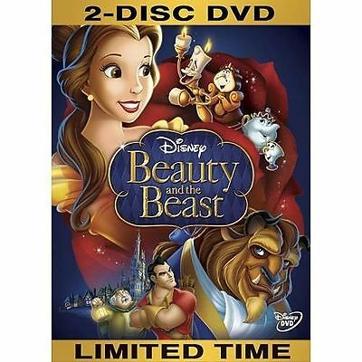 Beauty and the Beast (DVD, 2010, 2-Disc Set, Diamond Edition)free shipping