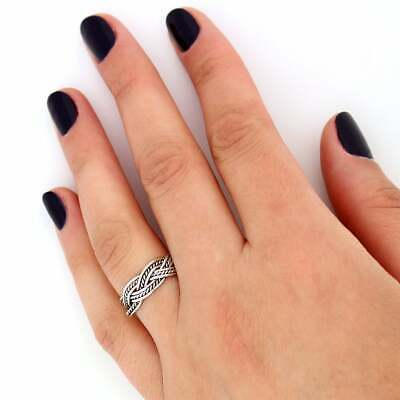 Sterling silver Celtic knot  Tribal Ring Celtic Knot twisted ring (R-05)