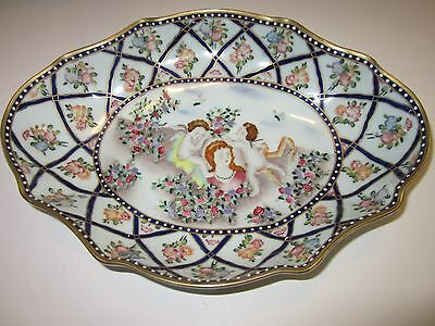 Andrea By Sakek Dominie's Collection Hand Painted Decorative Oval Bowl