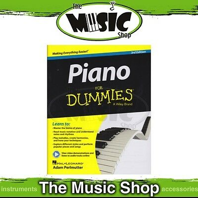 New Piano for Dummies Music Tuition Book with OLA - 3rd Edition