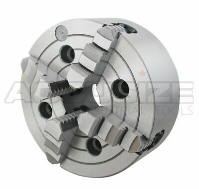 "10""/250 mm 4-Jaw Independent Lathe Chuck, Plain Back, #0557-0010"