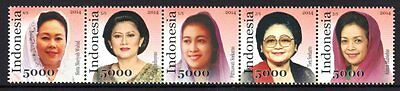 Indonesia 2014 First Ladies Strip 5 MNH