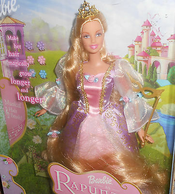 BARBIE AS RAPUNZEL WITH MUSICAL HAIRBRUSH- 2001