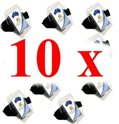 10 x ID Black Arm Bands - TRACKING & PACKAGE PHOTO SUPPLIED