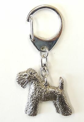 Kerry Blue Terrier Silver Keyring