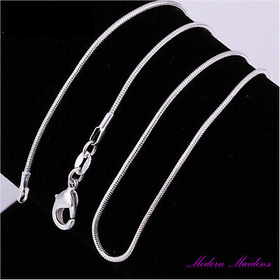 925 Sterling Silver 1MM Classic Snake Necklace Chain Wholesale Price Unisex