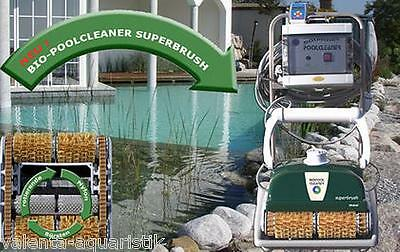Bio-PoolCleaner superbrush comfort Poolroboter mit Caddy Schimmteich Roboter
