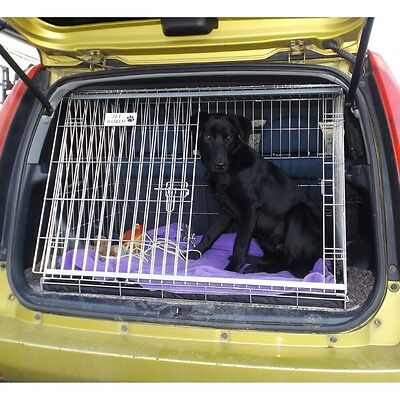 PET WORLD FORD FIESTA SLOPING CAR DOG CAGE BOOT TRAVEL CRATE PUPPY GUARD