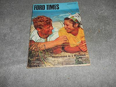 FORD TIMES THE FORD OWNERS MAGAZINE - JANUARY 1970