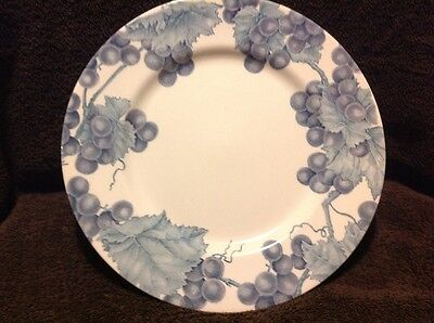 Vintage ROYAL STAFFORD PLATE England Blue Leaf Berry Lot Of 2