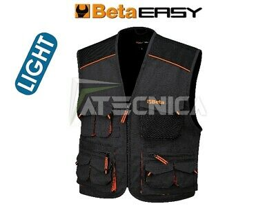 Gilet multitasche smanicato Beta Work 7867E XS S M L XL giubbotto pesca