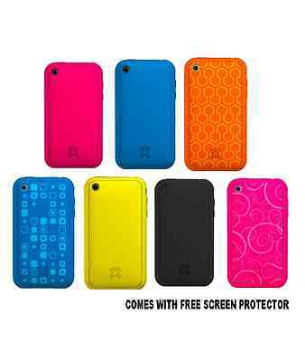SOFT SILICONE CASE COVER SKIN FOR APPLE IPHONE 3G 3GS WITH FREE SCREEN PROTECTOR