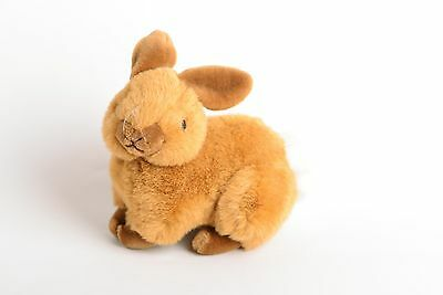 """Stuffed Bunny Rabbit stuffed Realistic brown plush toy 12"""" x 8"""" Soft Whiskers"""