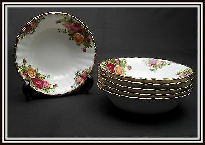 "6""OLD COUNTRY ROSES""13.cm  FRUIT / CEREAL / SOUP BOWLS, 1973 -1993, ROYAL ALBERT"