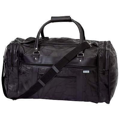 """Genuine Leather 21"""" Carry On Duffle Bag, Italian Overnight Luggage Suitcase Tote"""