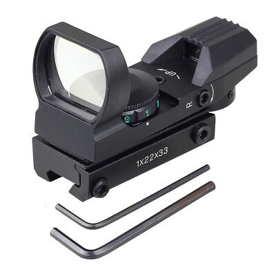 Holographic Red Green Dot Projected Reflex 4 Reticles Sight Scope Fit 11mm Rail