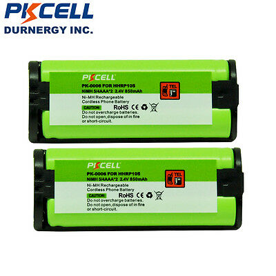 2 New HHR-P105 Ni-MH Rechargeable Battery 850mah for Panasonic Cordless Phone CA