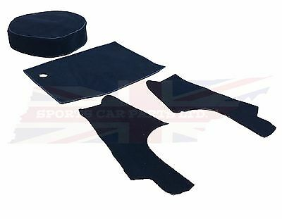 New 4 Piece Trunk (Boot) Black Carpet Kit for MGB 1963-80 Roadster Made in UK